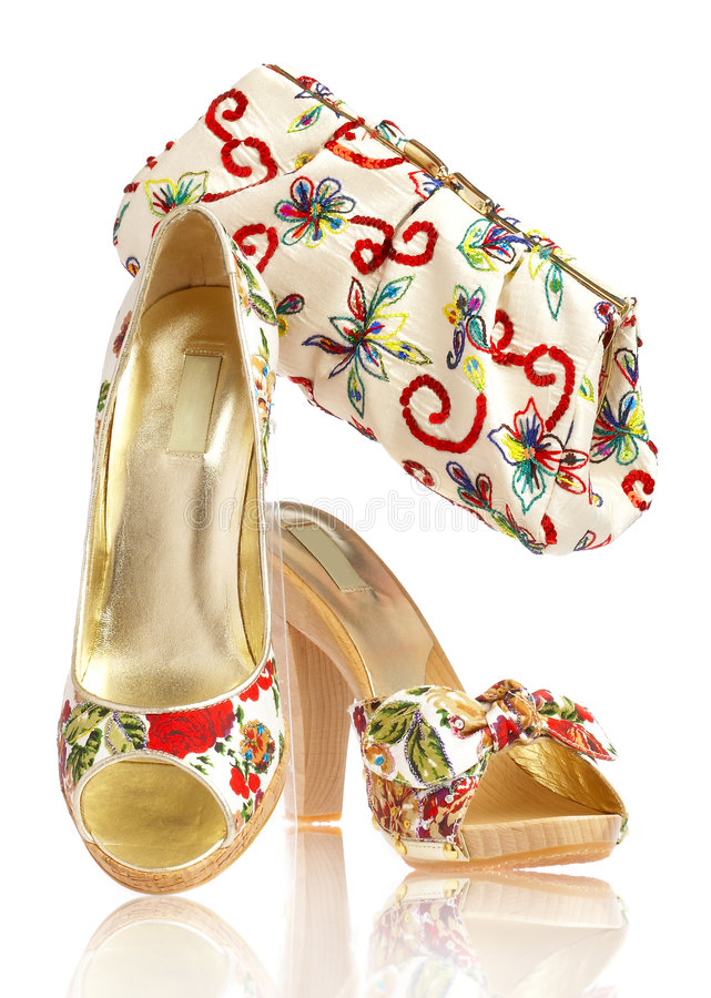Free Female Shoes And Handbag Stock Photography - 2741892