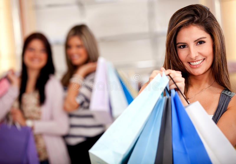 Download Female shoppers stock image. Image of buyers, shop, cheerful - 21849037