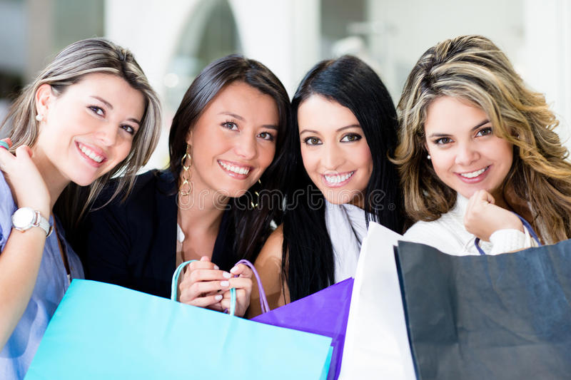 Download Female shoppers stock image. Image of mall, latin, gorgeous - 25260249