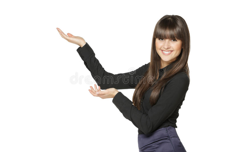 Female Showing Blank Copy Space Stock Photography