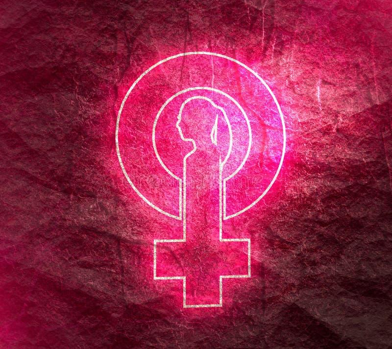 Female symbol icon royalty free stock photos