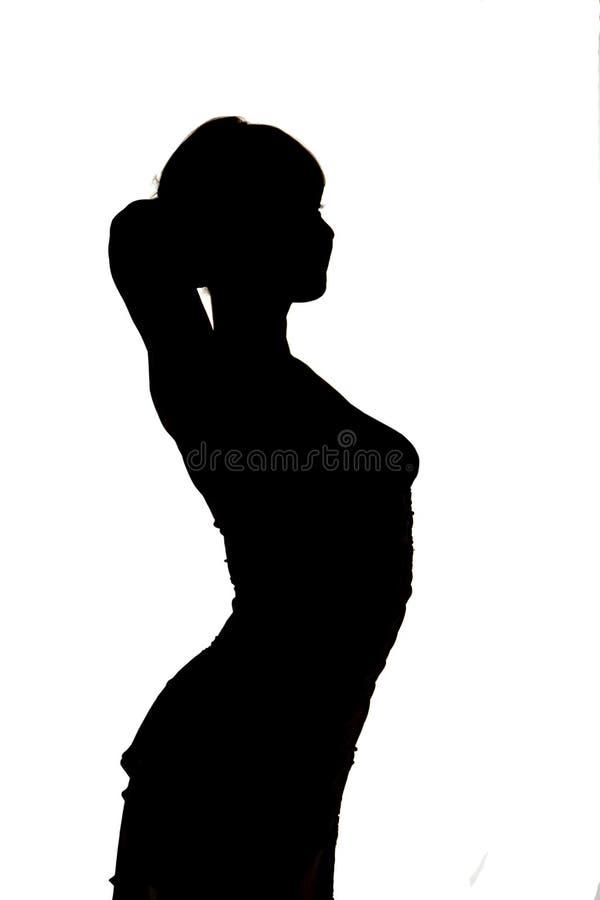 Female silhouette stock image