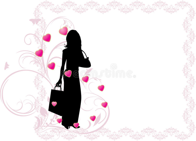 Silhouette Of A Elegant Woman Stock Vector