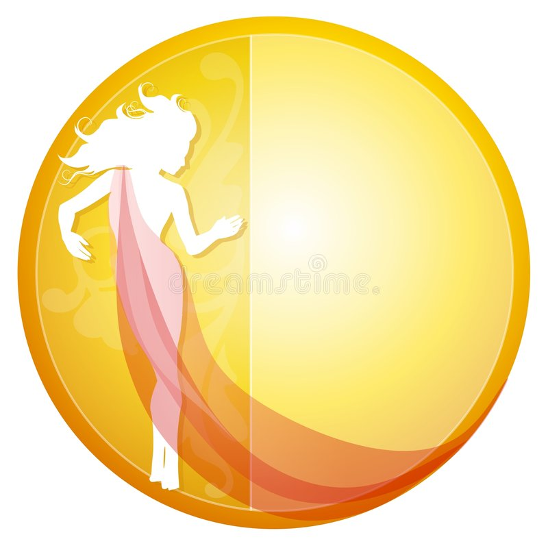 Female Silhouette in Gown royalty free illustration