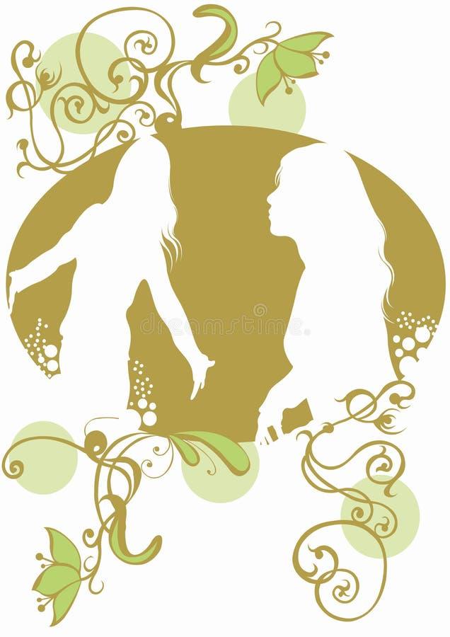 Female silhouettes royalty free stock photos