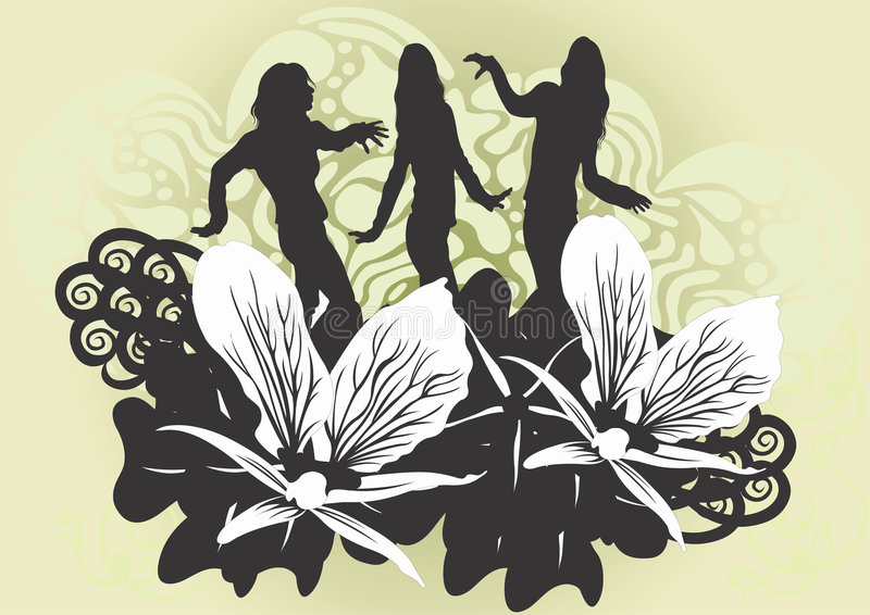 Female silhouettes vector illustration