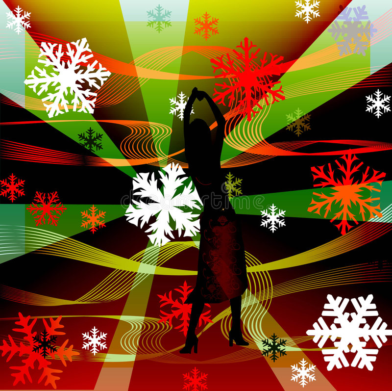 Download Female Silhouettes Dancing In A Disco Stock Illustration - Image: 1258462