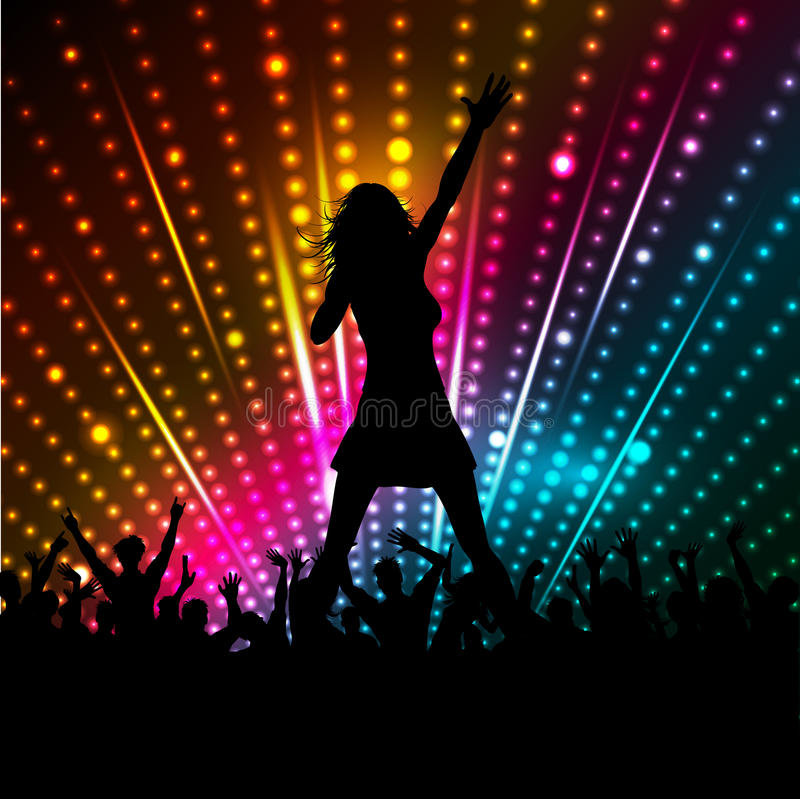 Download Female singer stock vector. Image of lights, party, group - 21505978