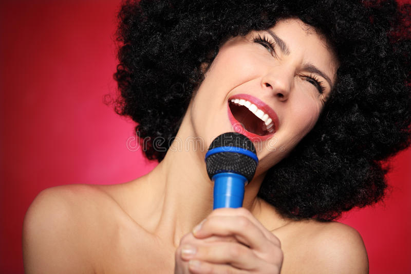 Download Female singer stock image. Image of karaoke, portrait - 28605645