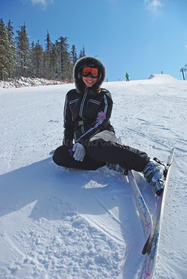 Female Skier. Royalty Free Stock Image