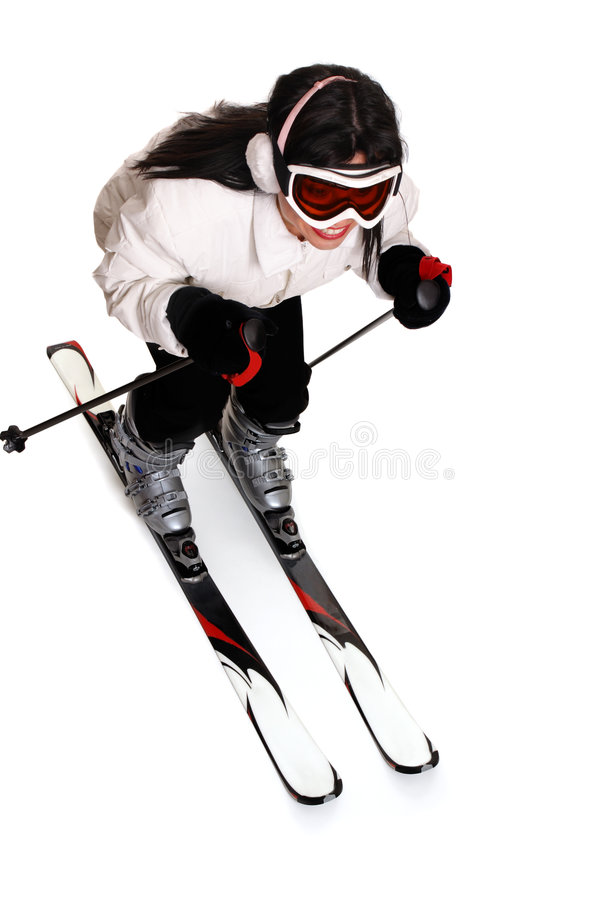 Female Skiing stock photo