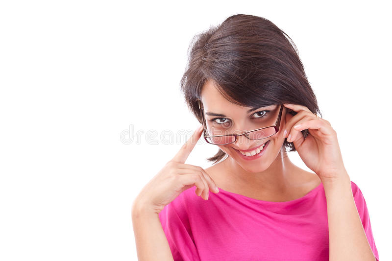 Female smiling royalty free stock photography