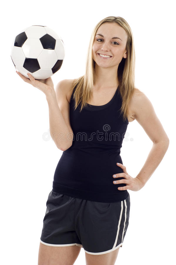 Female Soccer Player Royalty Free Stock Image