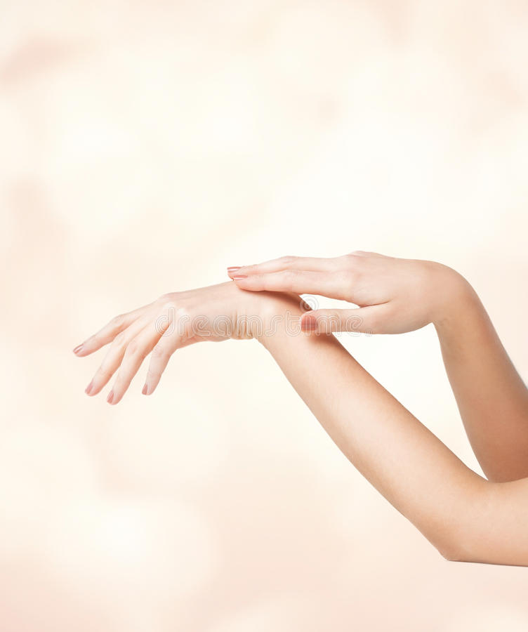Female soft skin hands royalty free stock images