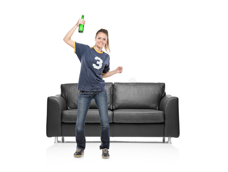 Download A Female Sport Fan Royalty Free Stock Photo - Image: 14610095