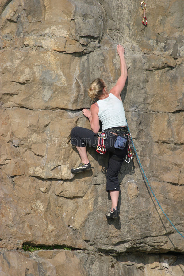 Free Female Sport Rock Climber Royalty Free Stock Photography - 97937