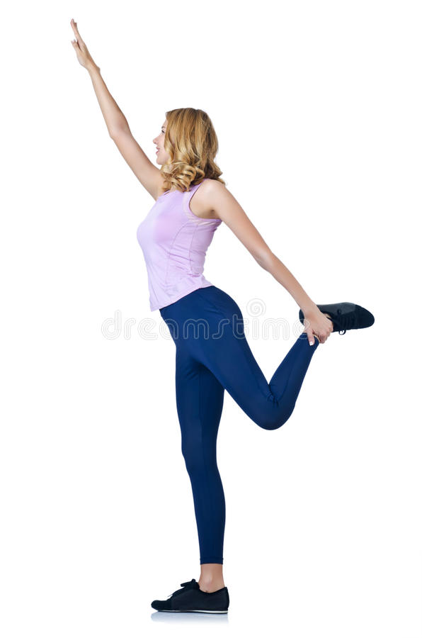 Download Female Sportsman Doing Exercises Stock Photo - Image: 25871042