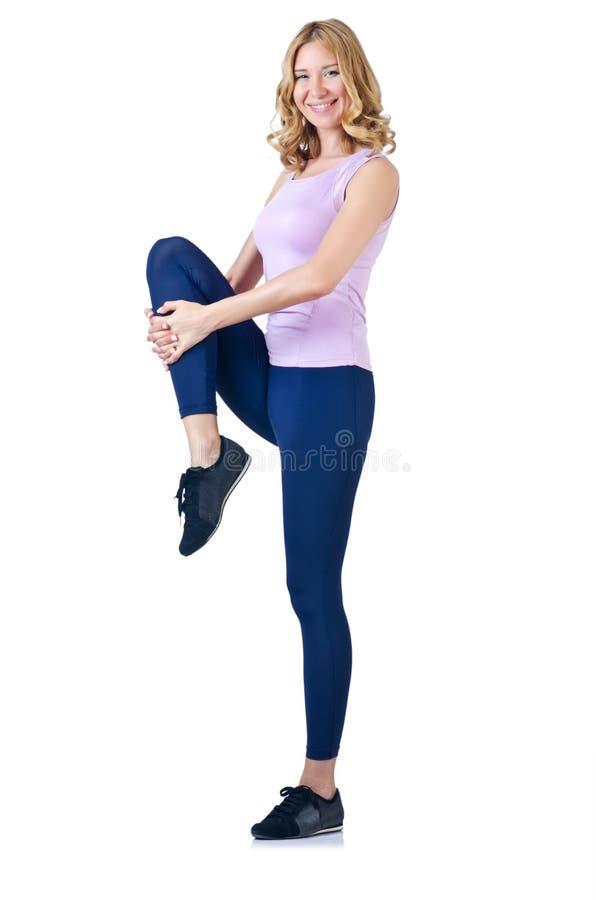 Female Sportsman Doing Exercises Stock Images