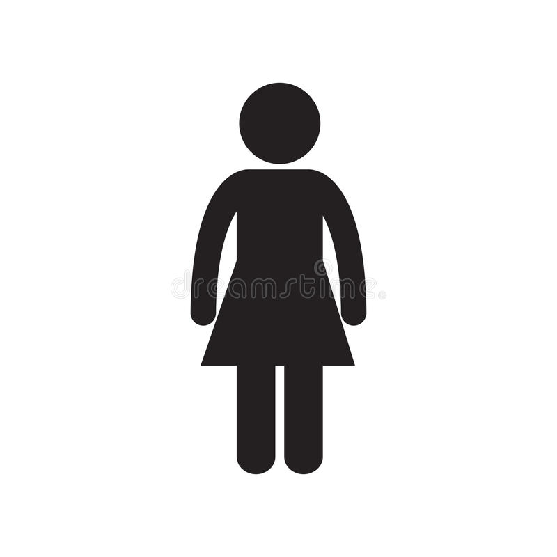 Female standing person adult pictogram. Illustration eps 10 royalty free illustration