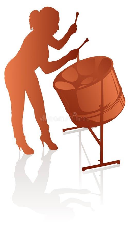 Female steelpan player royalty free illustration