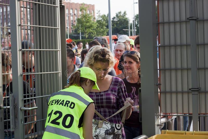Female Steward Checks Editorial Stock Photo