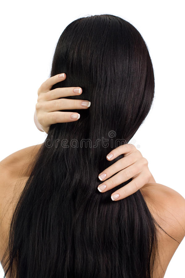 Female strong hair royalty free stock images