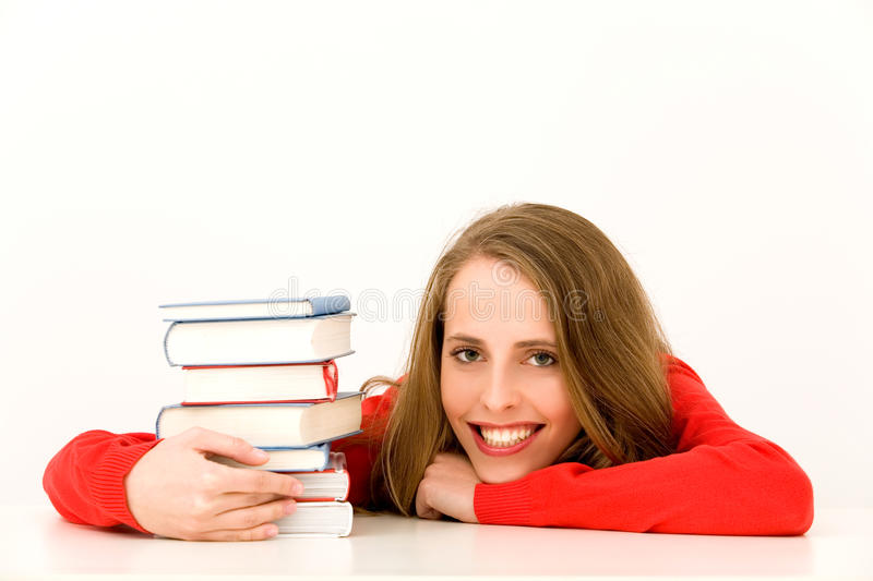 Download Female student stock photo. Image of library, adult, stack - 12967150