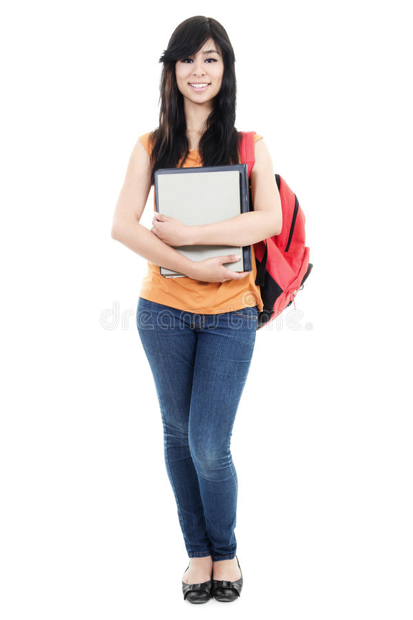 Download Female Student stock photo. Image of campus, high, books - 26192300