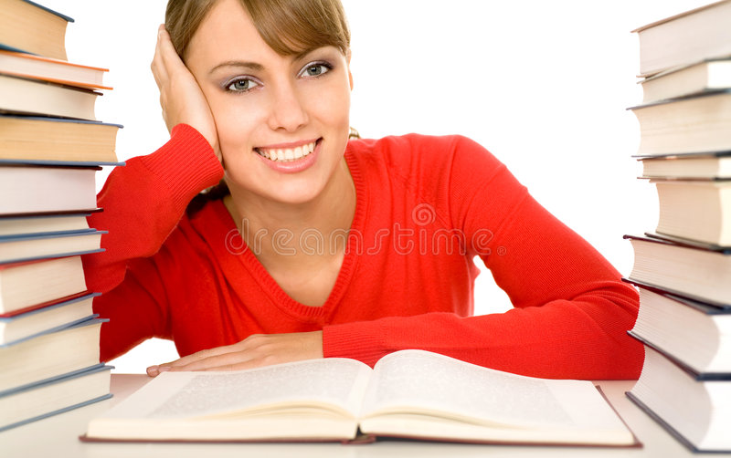 Download Female student stock image. Image of female, homework - 7173507