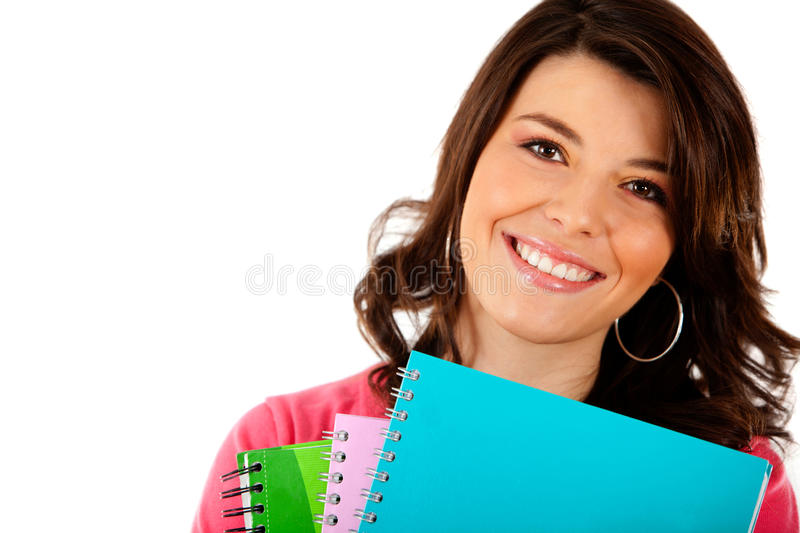 Download Female student isolated stock photo. Image of cheerful - 21562108