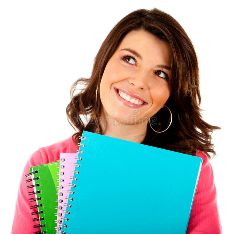 Download Female student isolated stock photo. Image of student - 21562130