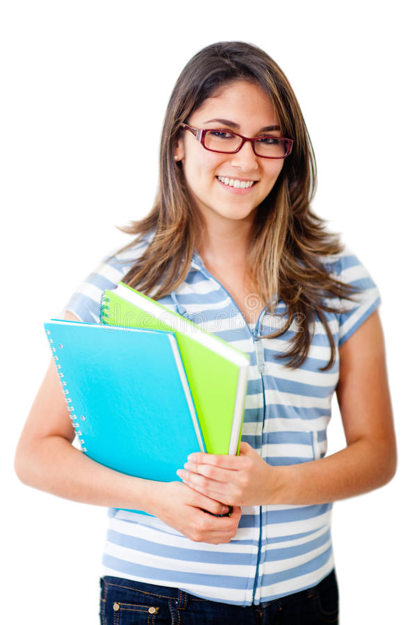 Download Female Student With Notebooks Stock Image - Image: 24638157