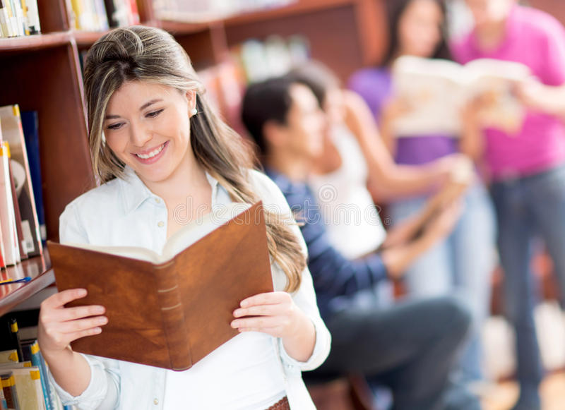 Download Female student reading stock image. Image of latinamerican - 25650027
