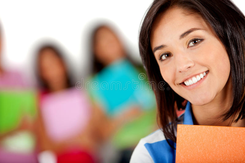Download Female student smiling stock photo. Image of group, beautiful - 18806478
