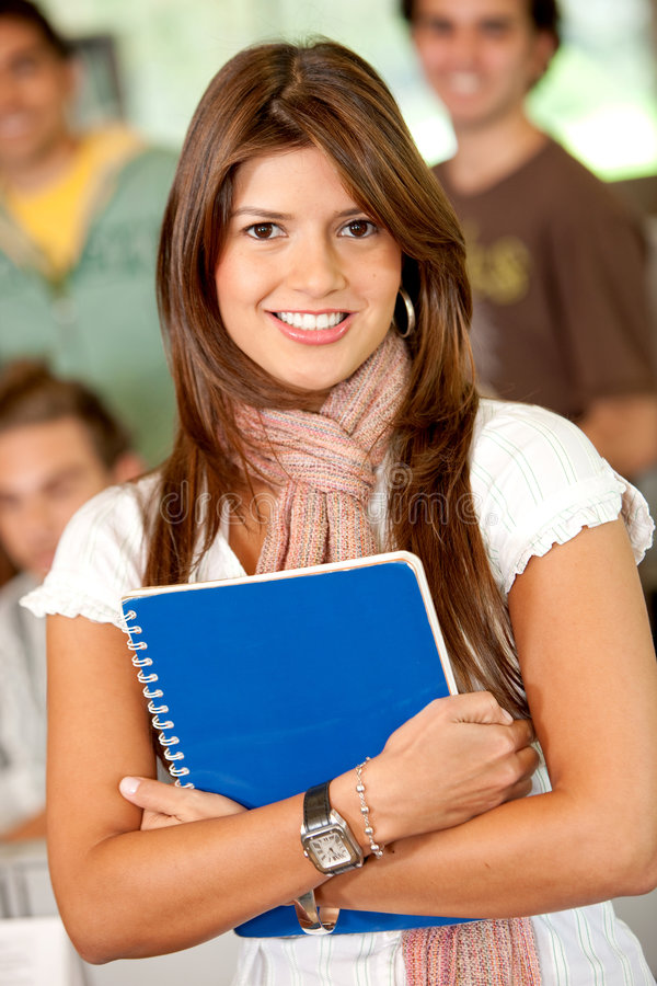 Download Female student smiling stock image. Image of beautiful - 8026035