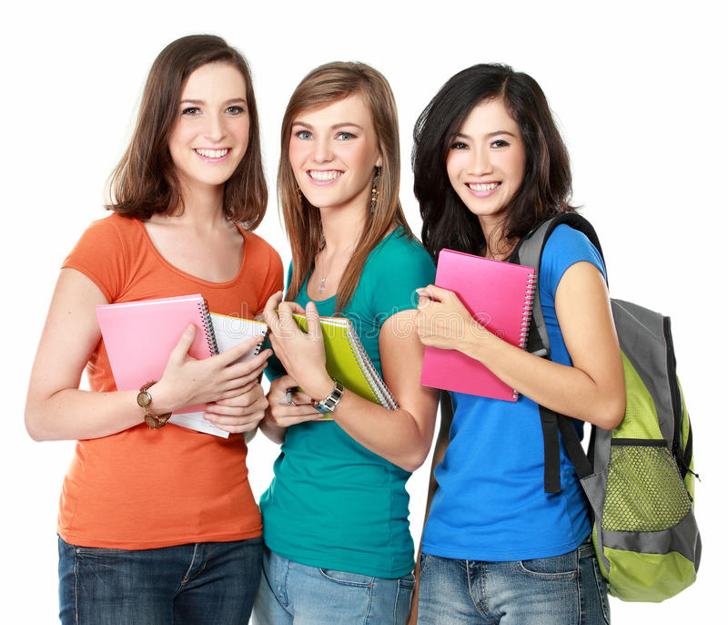 Female student together royalty free stock image