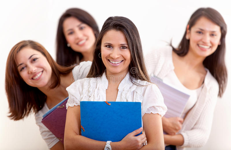 Download Female students stock image. Image of isolated, notebooks - 17027999
