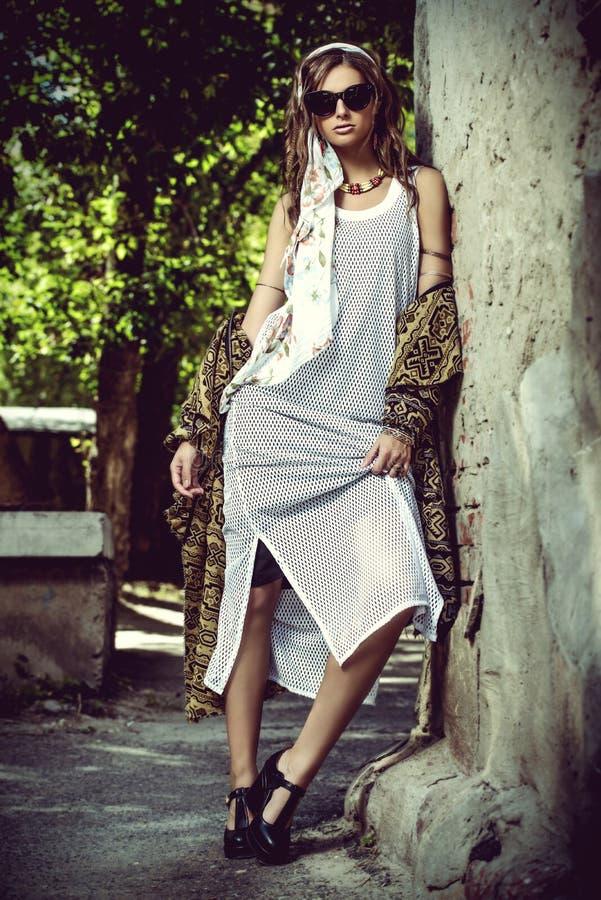 Bohemian glamorous style stock photos