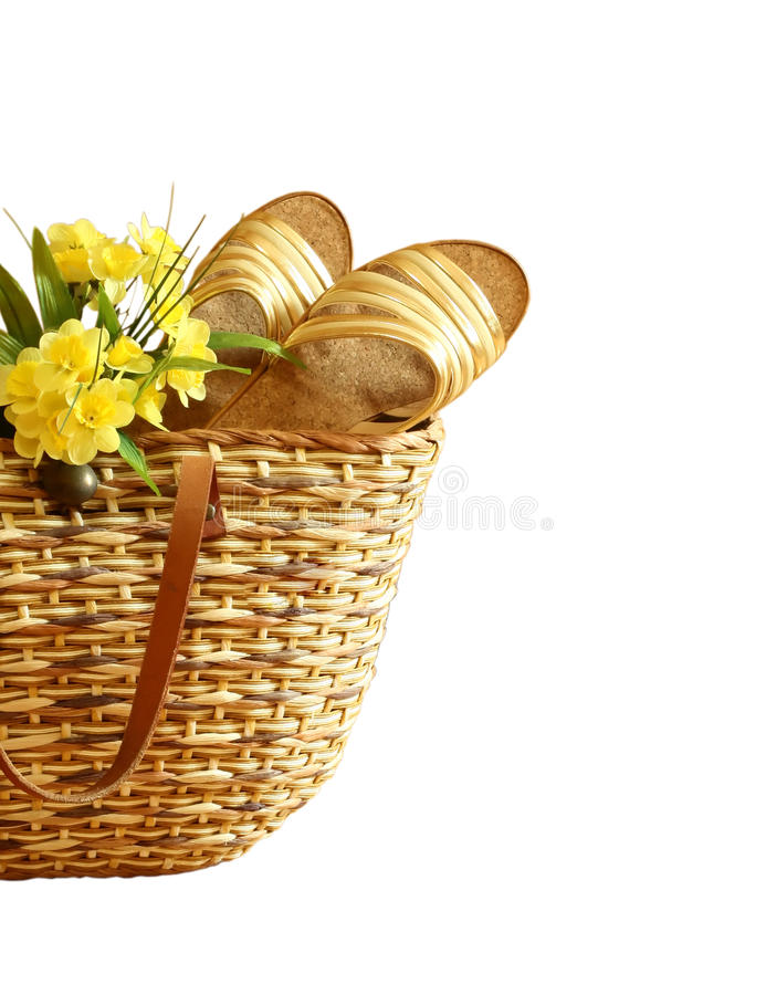 Download Female Summer Bag With Footwear And Flowers Isola Stock Image - Image: 11485055