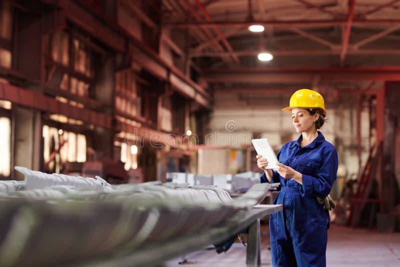 Female Supervisor at Factory royalty free stock image
