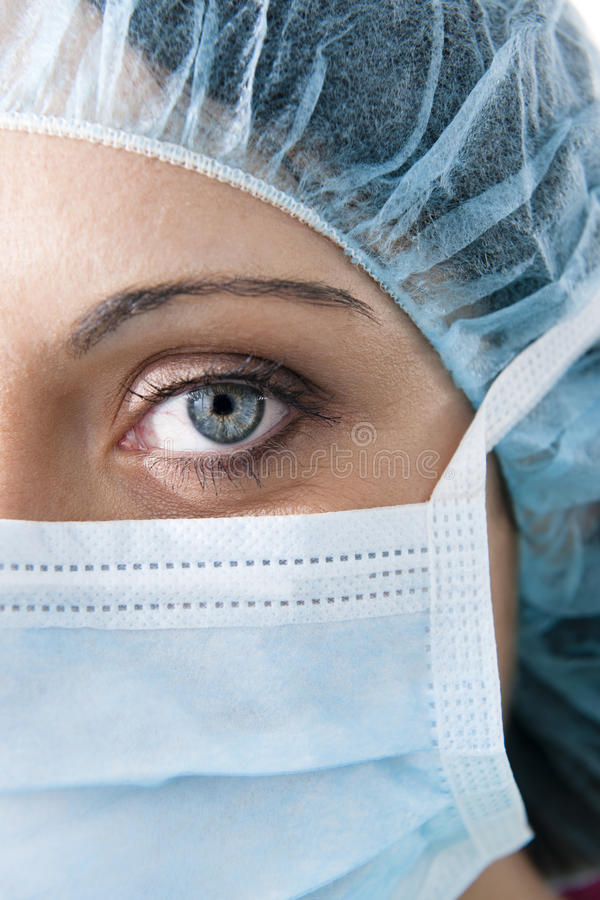 Female surgeon stock photography