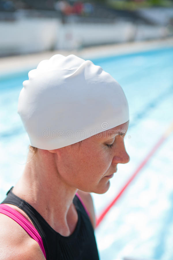 Download Female swimmer at pool stock photo. Image of swimmer - 33864508