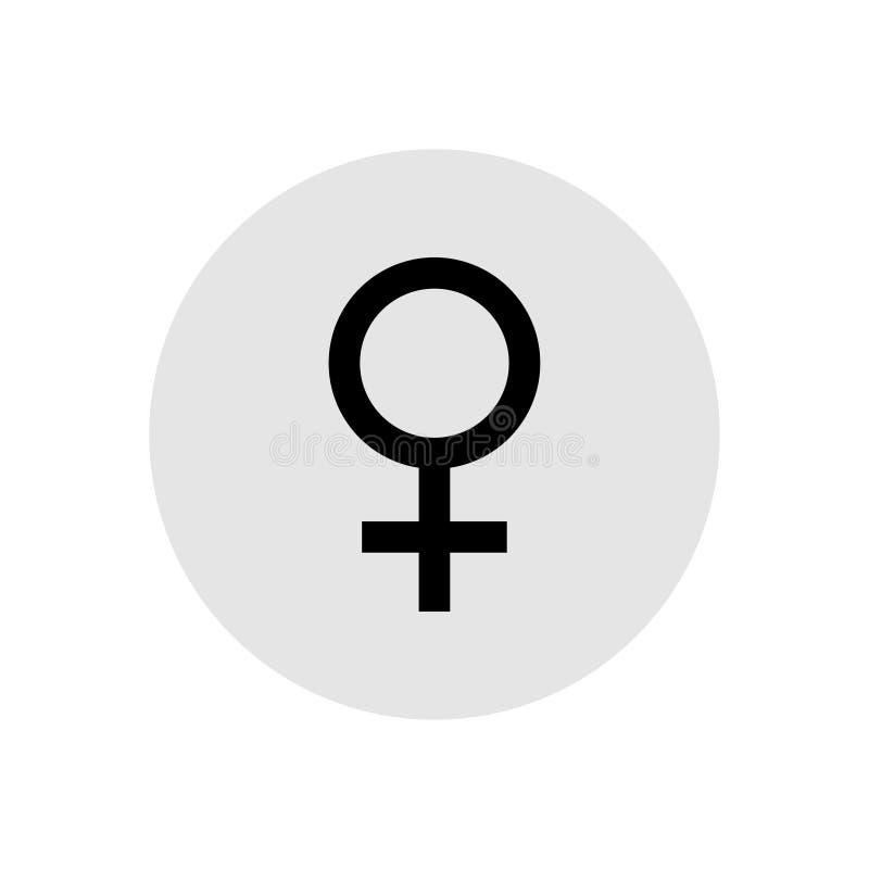 Female symbol on grey background. Vector illustration royalty free illustration