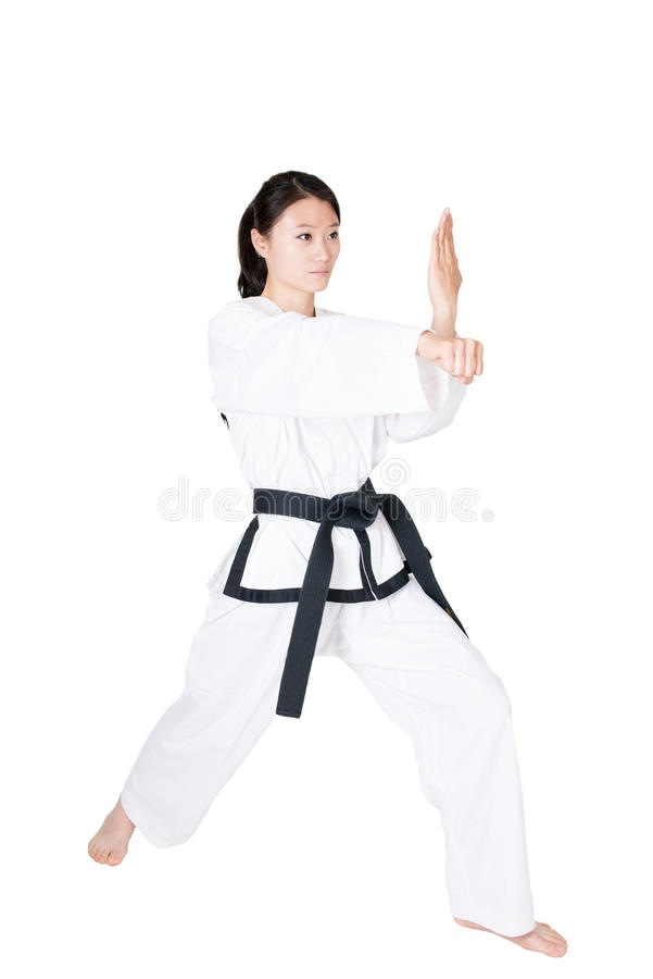 Free Female Taekwondo Athletes Stock Photo - 40374220