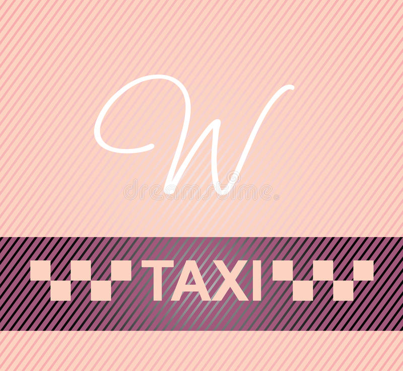 Female taxi. Taxi cab symbol on background carbon pattern royalty free illustration