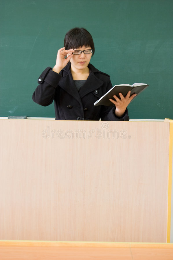 Female teachers stock images