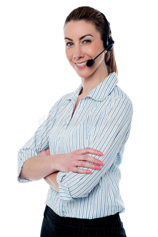 Download Female Tech Support Executive Stock Photo - Image: 33020600