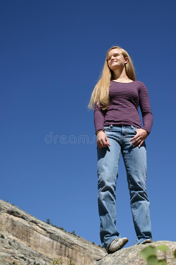 Female Teen Future royalty free stock images