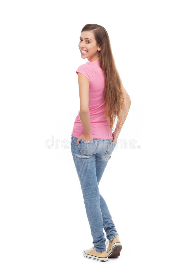 Download Female teenager standing stock photo. Image of beautiful - 27170116