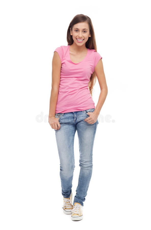 Download Female teenager standing stock photo. Image of female - 27170188